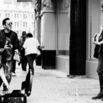 Street musicians playing soundcloud